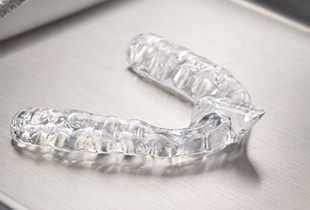 Clear plastic nightguard for bruxism